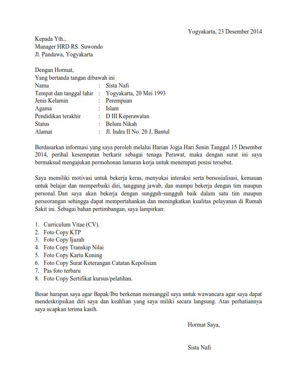 17 Contoh Surat Lamaran Kerja Yang Membuat Kamu Diterima Kerja