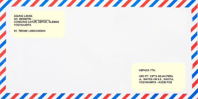constoh amplop surat izin